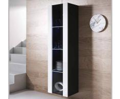 Armario colgante modelo Luke V5 (40x165cm) color negro y blanco