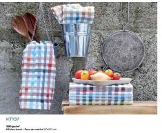 Bomdia Classic® 4 Paños de cocina rizo 50x50 cm - Trapos cocina multi-color (KT 137)