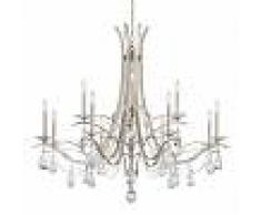 SCHONBEK Lámpara de araña Vesca 12 llamas, cristal