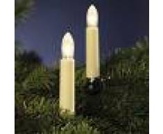 Hellum Cadena de luces: 20 velas estriadas LED 16 m