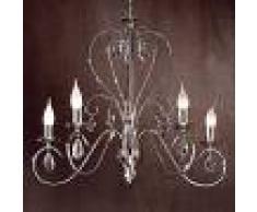Orion Lámpara de araña Fioretto cristal Asfour 5 llamas