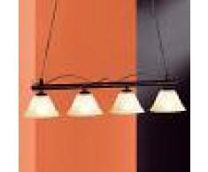 Fischer & Honsel Lámpara colgante de barra DANA de cuatro focos