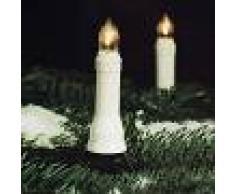 HELLUM Estilosa guirnalda LED Riffelkerzen - 20 velas