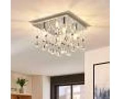LAMPENWELT.COM Lámpara LED de techo Saori de cristal brillante