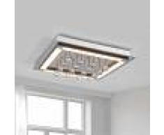 LIS POLAND Lámpara LED de techo Leggero, cortinaje de cristal