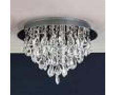 Orion HELENE - Lámpara de techo, cristal de plomo, 45 cm