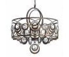 SCHONBEK Lámpara colgante de cristal Gwynn en bronce
