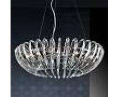 SCHULLER Lámpara colgante Ariadna de cristal transp., 66 cm