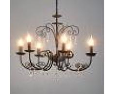 LAMPENWELT.COM Lámpara de araña Sophina de 7 llamas, con cristal