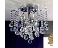 Orion Lámpara de techo cristal LENNARDA brillante, 42 cm