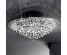 Orion Lámpara de techo cromada CAROL colgante de cristal