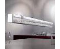 EGLO Lámpara colgante LED Cardito, cristal Asfour 70 cm