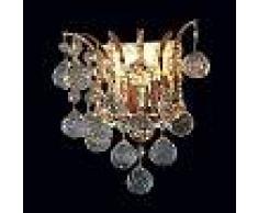 Orion Lámpara de pared de cristal dorada LENNARDA