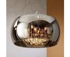 SCHULLER Lámpara colgante LED Argos con gotas de cristal