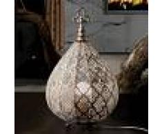 SCHULLER Lámpara de mesa LED Nabila de diseño oriental