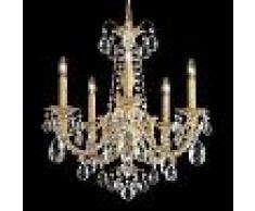 SCHONBEK Alea: lámpara de araña con cristales, dorado