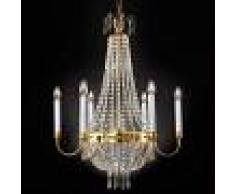 Orion Lámpara de araña de cristal Empire, color dorado