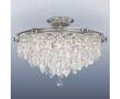 RIPERLAMP Lámpara de techo integrada Samara de cristal