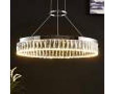 LAMPENWELT.COM Carmi - lámpara colgante LED atenuable con cristal