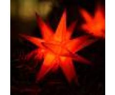 DECO PLANT Guirnalda LED 9 estrellas rojas - exterior