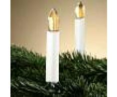 HELLUM Estilosa guirnalda LED Riffelkerzen - 15 velas