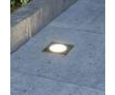 LAMPENWELT.COM Foco de suelo LED empotrado Doris, forma cuadrada
