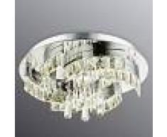 GLOBO Extraordinaria lámpara LED de techo Febe, cristal