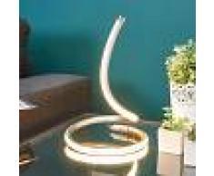 LAMPENWELT.COM Lámpara LED de mesa Sena con diseño arqueado
