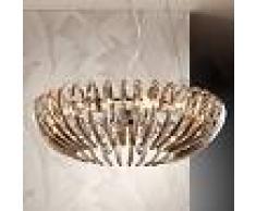 SCHULLER Lámpara colgante Ariadna de cristal, color champán