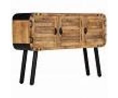 vidaXL Aparador de madera maciza de mango 120x30x76 cm