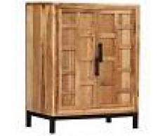 vidaXL Aparador de madera de acacia maciza marrón 60x35x76 cm