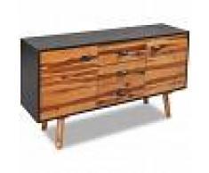 vidaXL Aparador de madera de acacia 115x35x70 cm