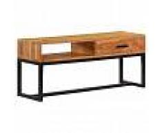 vidaXL Aparador de madera de acacia maciza 110x30x45 cm