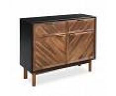 vidaXL Aparador de madera maciza de acacia 90x33,5x75 cm