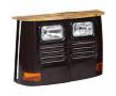 vidaXL Aparador con forma de camión madera de mango maciza gris oscuro