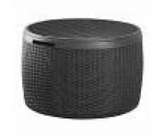 Keter Circa Caja de almacenamiento redonda ratán sintético 227487