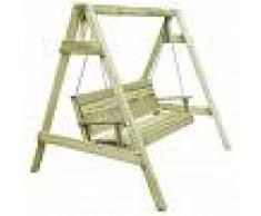 vidaXL Columpio asiento jardín madera pino impregnada 215x171x180 cm
