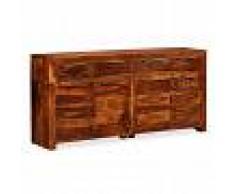 vidaXL Aparador de madera maciza de sheesham 160x35x75 cm
