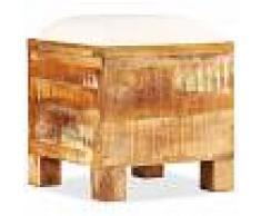 vidaXL Banco de almacenamiento de madera reciclada maciza 40x40x45 cm