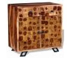 vidaXL Aparador de madera maciza de sheesham 65x35x65 cm