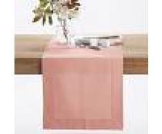 LA REDOUTE INTERIEURS Camino de mesa de rétor de lino/algodón BORDER ROSA