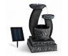 Blumfeldt Fantaghiro Fuente ornamental Fuente de jardín 3W Solar LED Poliresina Efecto piedra (SOL1-Fantaghiro)
