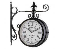 Blumfeldt Paddington Reloj de jardín, pared o estación Ø23cm Vintage Acero Negro (WTH2-Paddington)