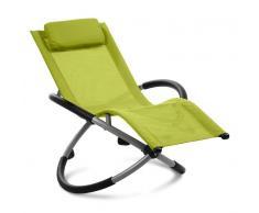 Blumfeldt Chilly Willy hamaca para niños tumbona silla de jardín textil verde (HMD1-Chilly-Willy-G)