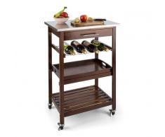 Klarstein Vermont carro de cocina camarera cajón estante de vino acero inoxidable (ST2-Vermont)