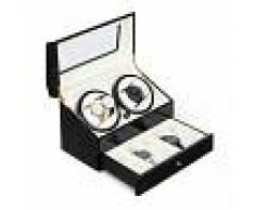 Klarstein Geneva Estuche para 4 relojes 4 modos Cajón Negro (WW1-Geneva-R)