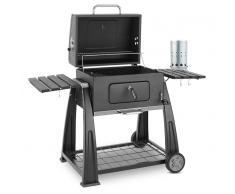 Klarstein Bigfoot Set parrilla carbón BBQ ahumadero + encendido eléctrico (PL-Bigfoot-Set)