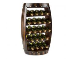 Klarstein Barrica Botellero de madera estantería para vinos de 22 botellas mader (WHR-Barrica-22)