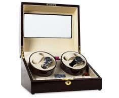 Klarstein Estuche para Relojes Old Marshall. Capacidad para 10 relojes (TWP-RDWH)