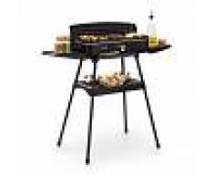 Klarstein Porterhouse Barbacoa eléctrica 2200 W Superficie grill antiadherente Negra (GQR1PortherhouseBL)
